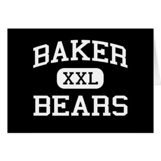 Baker - Bears - Junior - La Porte Texas Card