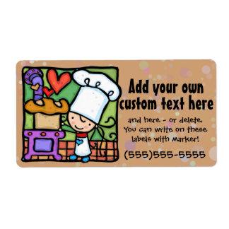 Baker.Bread.Bakery.Cooking.Custom.Template Label
