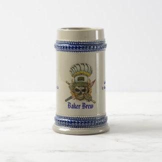 Baker Brew Stein 18 Oz Beer Stein