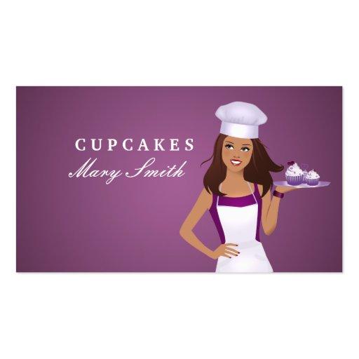 Baker Business Card Brunette Style