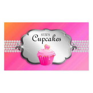 Baker Business Card Cupcake 'n Diamonds Pink Org