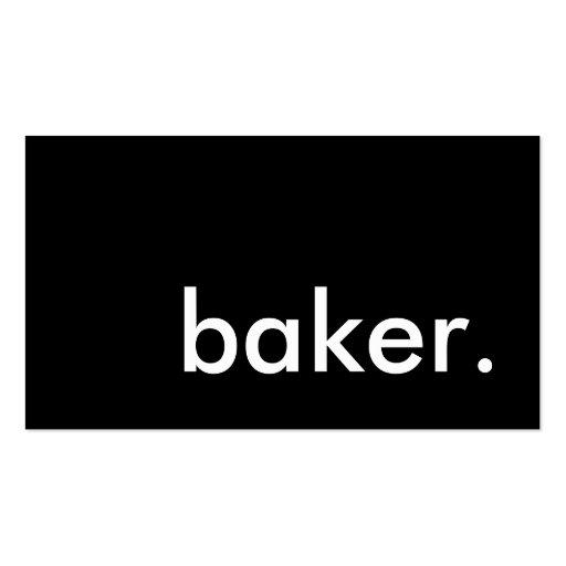 baker. business card templates