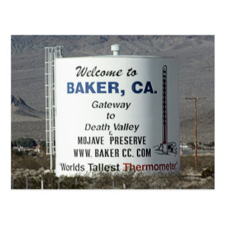 Baker, CA Postcard