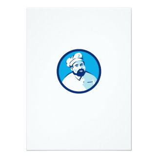 Baker Chef Cook Bearded Circle Retro Card