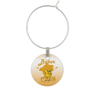 Baker chick #10 wine charm