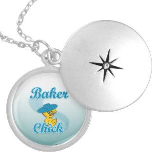 Baker Chick #3 Locket Necklace