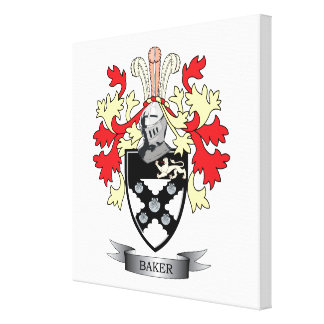 Baker Coat of Arms Canvas Print