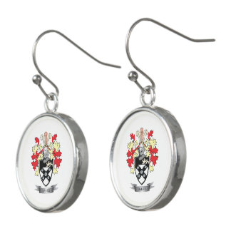 Baker Coat of Arms Earrings