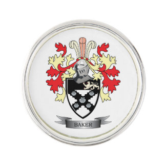 Baker Coat of Arms Pin