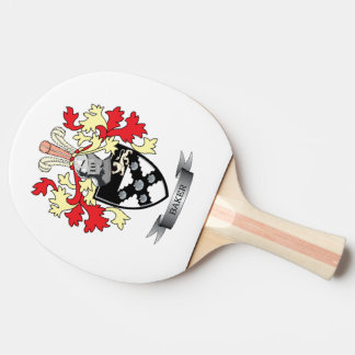 Baker Coat of Arms Ping Pong Paddle