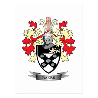Baker Coat of Arms Postcard
