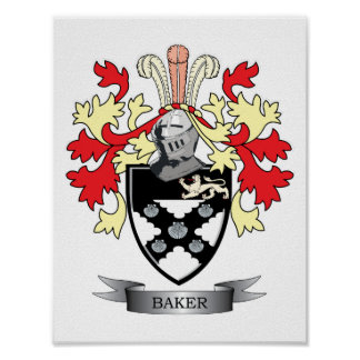 Baker Coat of Arms Poster
