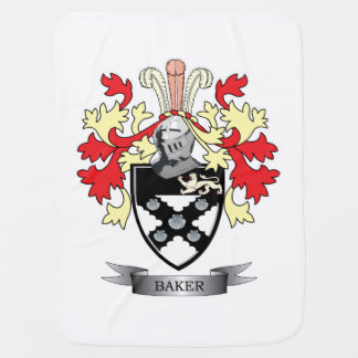 Baker Coat of Arms Swaddle Blanket