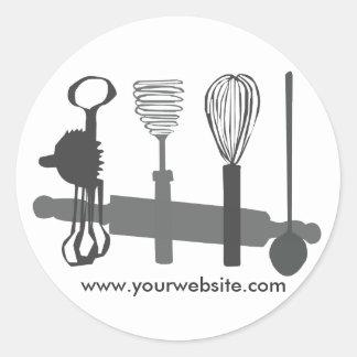 Baker Cook Round Stickers
