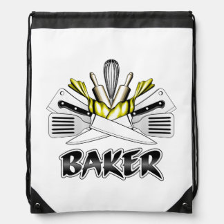 Baker: Cooking Utensils Drawstring Bag