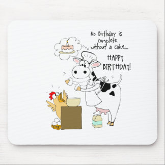 Baker Cow Mouse Pad