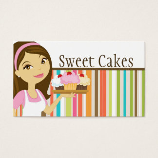Baker Cup Cakes Bakery Sweet Treats Business Card