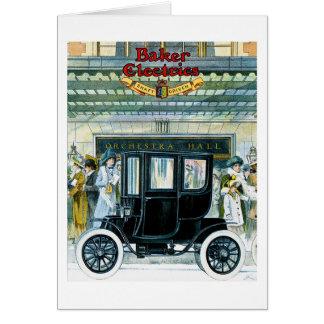 Baker Electric Cars - Vintage Ad Card