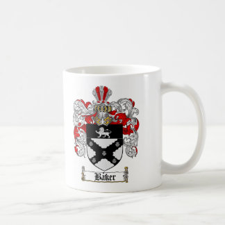 BAKER FAMILY CREST -  BAKER COAT OF ARMS COFFEE MUG