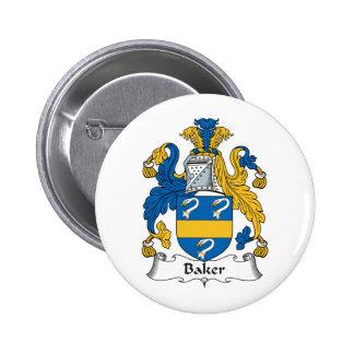 Baker Family Crest Buttons