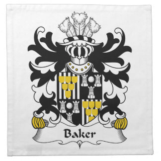 Baker Family Crest Cloth Napkin