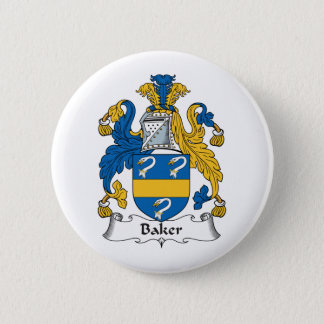 Baker Family Crest Pinback Button