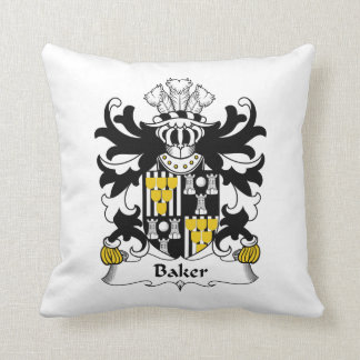 Baker Family Crest Throw Pillow