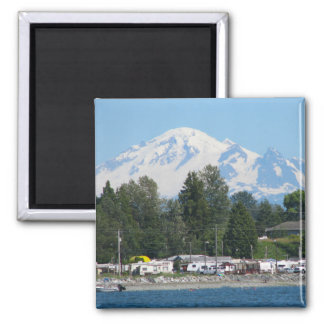 Baker From Birch Bay 2 Inch Square Magnet