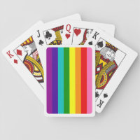 Baker Gay Pride Flag Rainbow Vertical Stripe Playing Cards