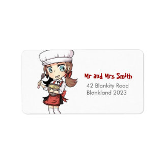 Baker Girl Address Label