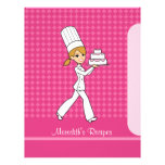 Baker Girl Pages to Index Recipes Blonde Version Letterhead Design