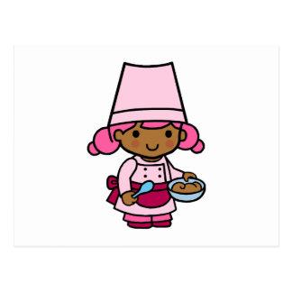 Baker Girl Postcard