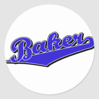 Baker in Blue Classic Round Sticker