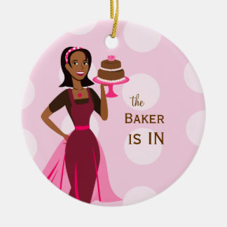 Baker in out sign christmas ornament