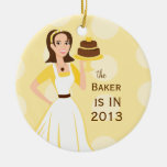 Baker in/out sign ornaments