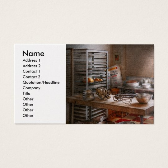 Baker - Kitchen - The commercial bakery Business Card