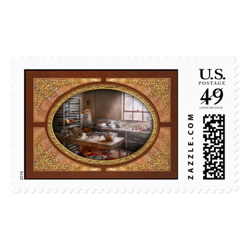 Baker - Kitchen - The commercial bakery Postage Stamps