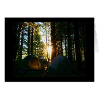 Baker Lake - Panorama Point - Camping note card