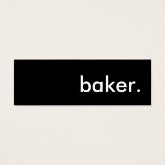 baker. mini business card