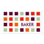 BAKER (mod squares) Double-Sided Standard Business Cards (Pack Of 100)