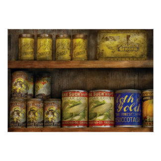 Baker - Old Cans Posters
