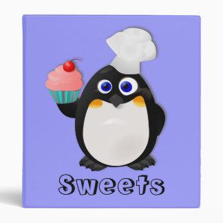 Baker Penguin with Cupcake II Vinyl Binder