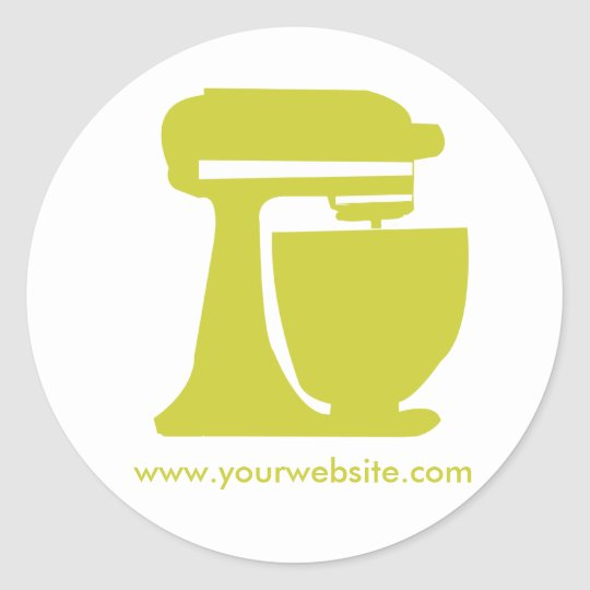 Baker Personal-Cook Classic Round Sticker
