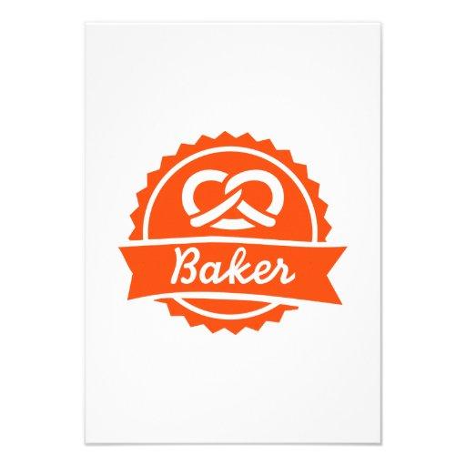 Baker Pretzel Custom Invites