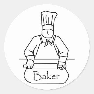Baker Rolls Dough Stickers