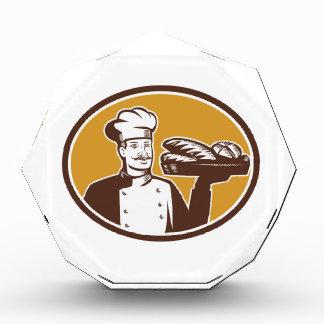 Baker Serving Bread Loaf Woodcut Awards