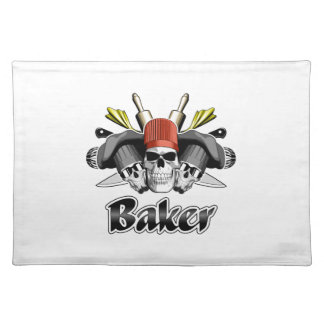 Baker Skull and Cooking Utensils Placemat