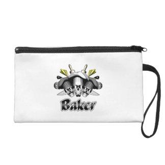 Baker Skull and Cooking Utensils Wristlet Purse