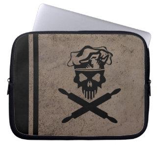 Baker Skull and Crossed Rolling Pins Laptop Sleeve