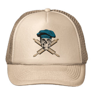 Baker Skull and Rolling Pins: Blue Trucker Hat